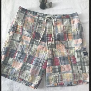 Tommy Hilfiger Swim Shorts trunk Plaid Patch  XXL